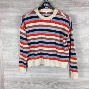 Madewell Knit Striped James Pullover Sweater